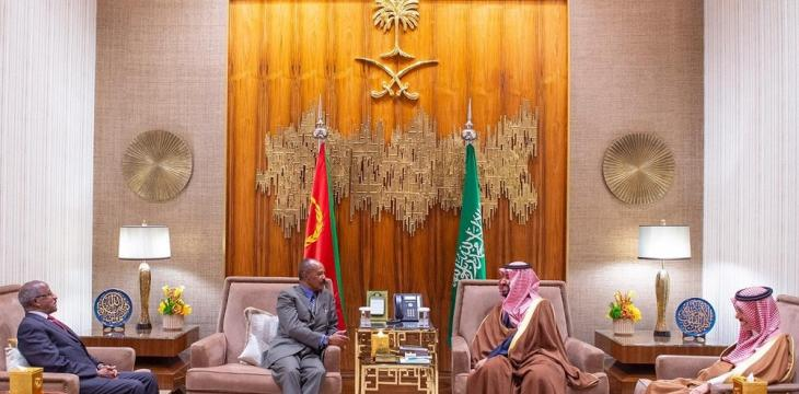 Saudi Crown Prince Receives President of Eritrea