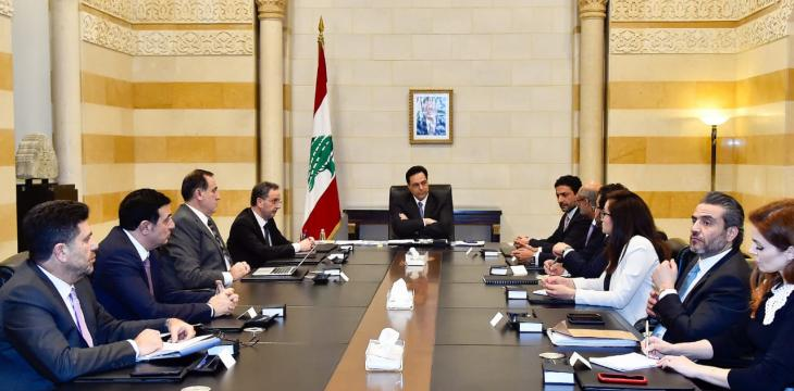 Diab Discusses with IFC Means to Resolve Lebanon's Economic Crisis