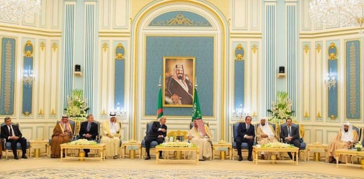 King Salman, Algerian President Hold Talks in Riyadh