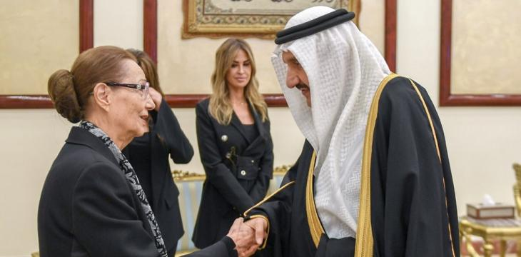 Mansur bin Miteb Offers Saudi Leadership's Condolences to Hosni Mubarak's Family