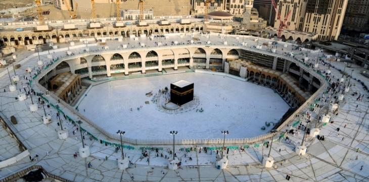 Masjid Al Haram Empty of Worshippers in Rare a Sight