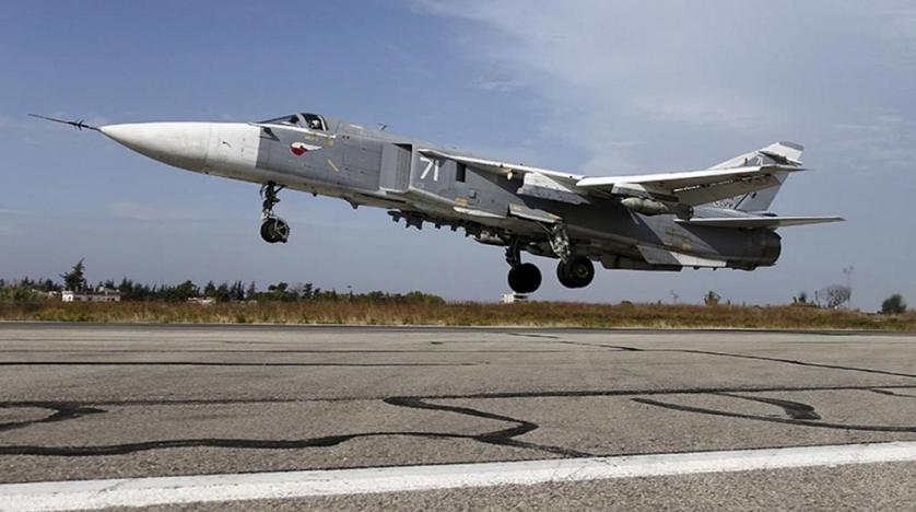 Russian warplane crashes during takeoff in Syria, killing 2