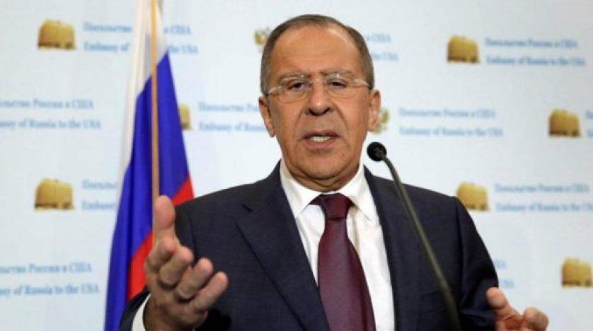 Russian Foreign Minister Sergei Lavrov speaks at a news conference at the Russian Embassy in Washington. Reuters file