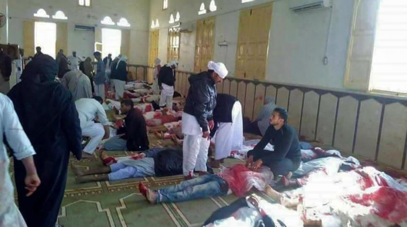 Death toll from Sinai mosque explosion hits 155