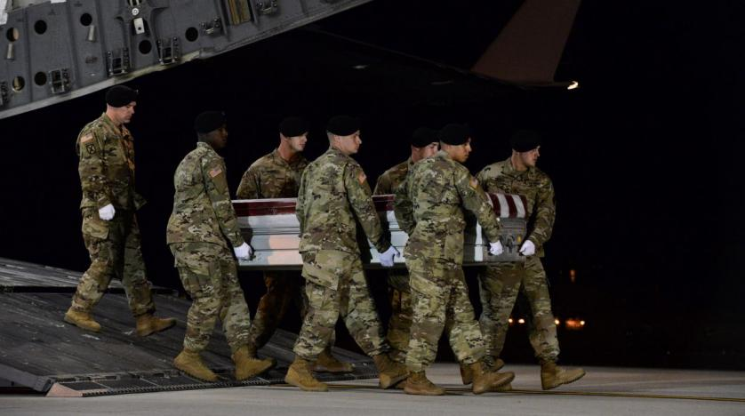 A total of 26000 U.S. troops deployed in Afghanistan, Iraq and Syria