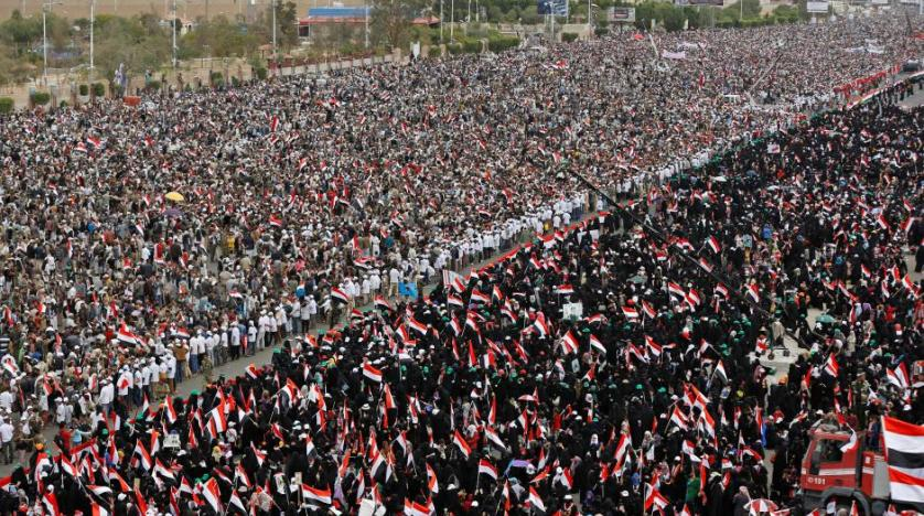 Supporters of former Yemeni President Ali Abdullah Saleh rally in Sana'a in March