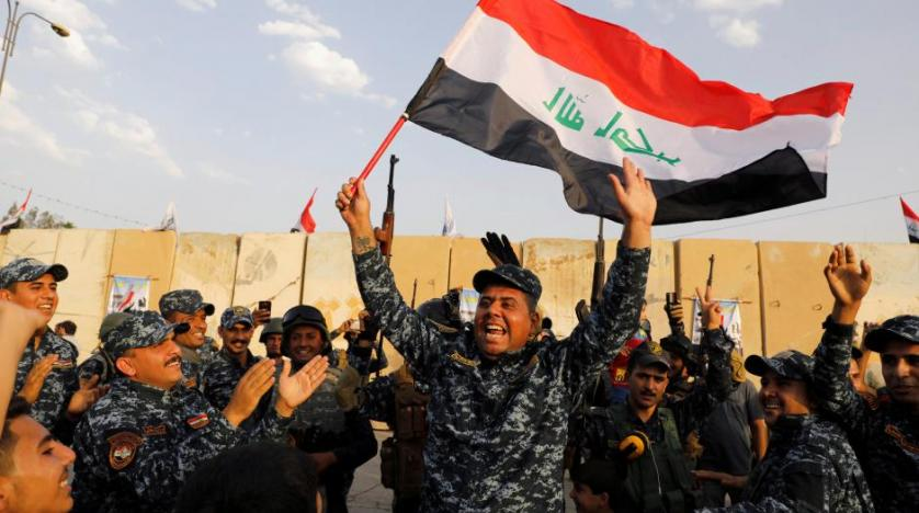 Iraq's armed forces celebrate victory over the Islamic State