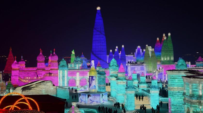Red Square, Bangkok temple among ice festival sculptures in Harbin, China