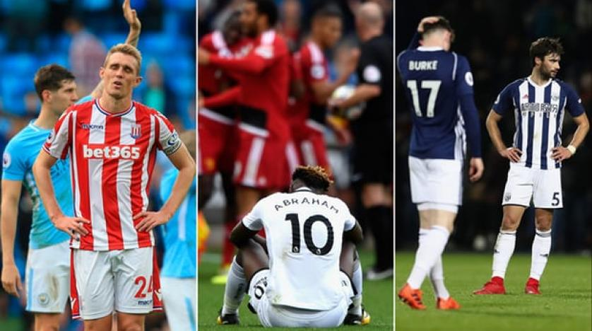 That sinking feeling for Stoke's Darren Fletcher Tammy Abraham at Swansea and West Brom. Composite AFP  Getty Images Getty Images