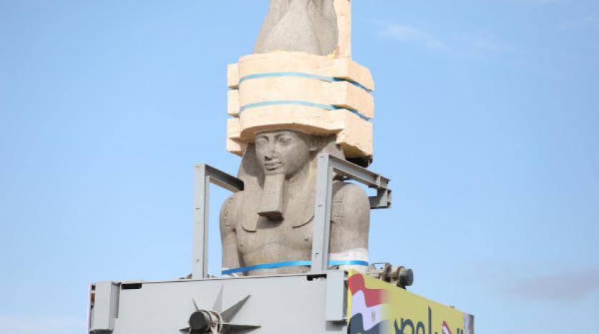 Ramses II Colossus Placed at Entrance of New Egypt Museum