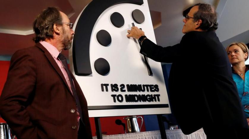 Scientist group moves 'Doomsday Clock' to 2 minutes to midnight