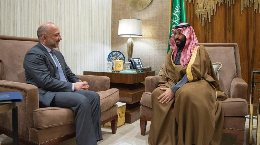 Saudi- HRH Crown Prince meets with Afghan National Security Advisor