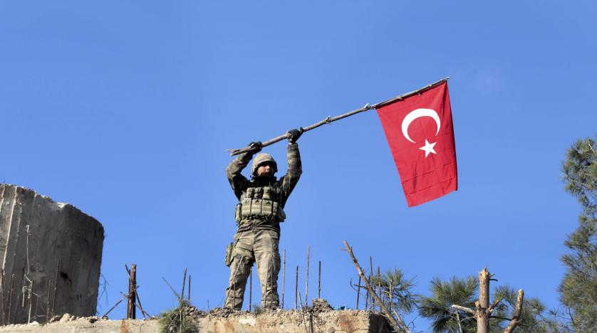 Turkish Armed Forces near Afrin district's center