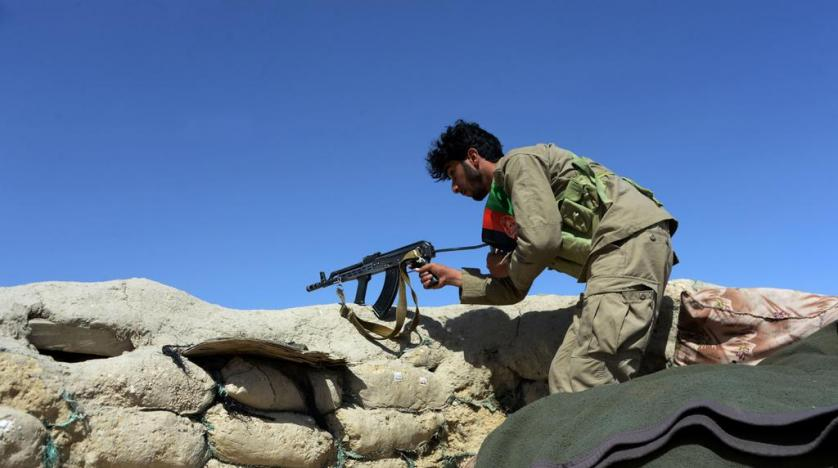 A member of the Afghan security forces