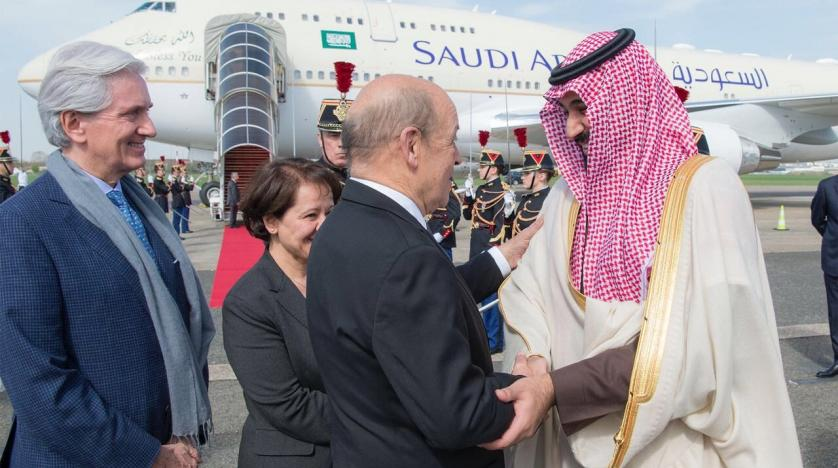 The Crown Prince arrives in France on an official visit