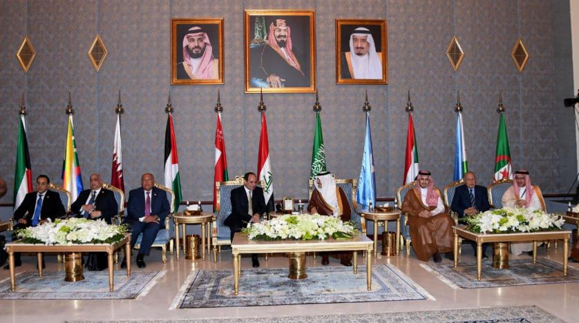 Saudi King Salman, Crown Prince and Arab leaders attend Gulf Shield ceremony
