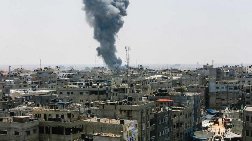 Two Palestinians Killed as Israel Targets Hamas Complex