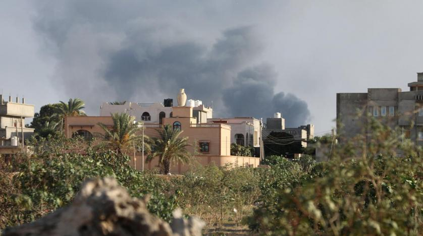 Image result for Missiles were fired at Libya's capital Tripoli