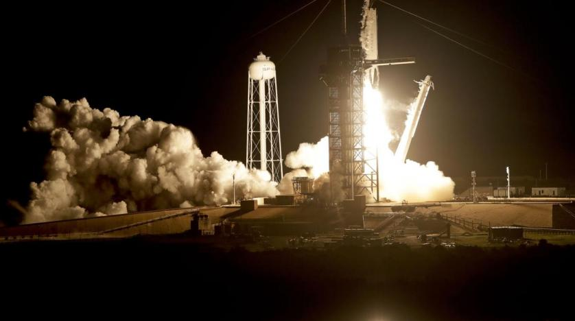 SpaceX launches Crew Dragon's first test flight