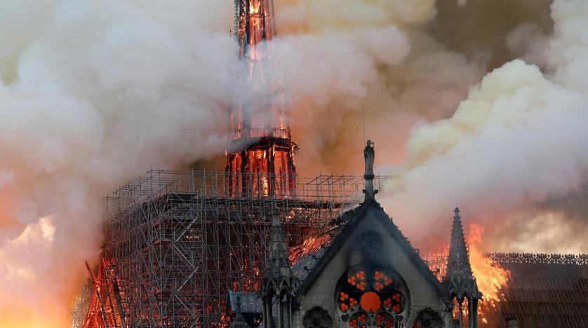 Fire ravages Notre Dame Cathedral in Paris, a UNESCO World Heritage Site