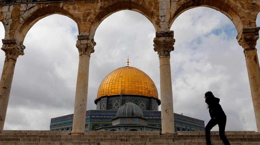 Dome of the Rock at al Aqsa Mosque compound in the Old City of Jerusalem