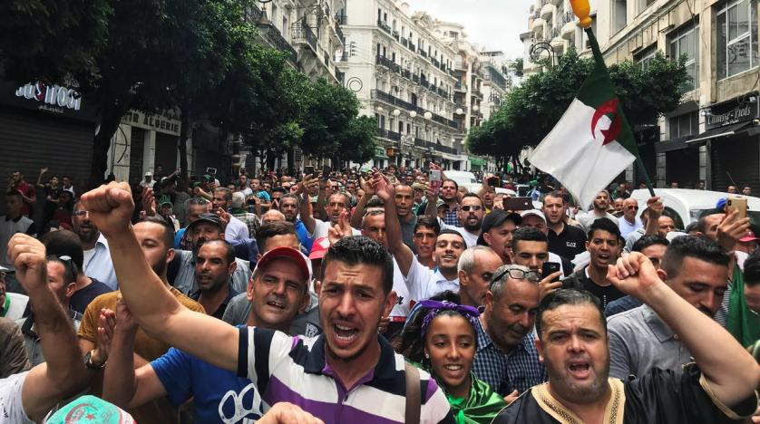 Image result for Protesters reject Algerian election announcement