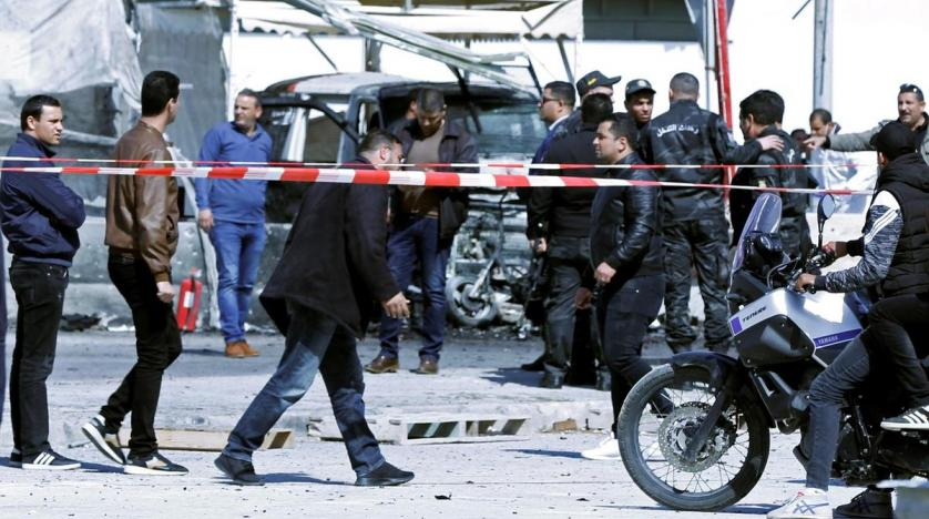 Explosion near U.S. Embassy in Tunisia wounds 5 police