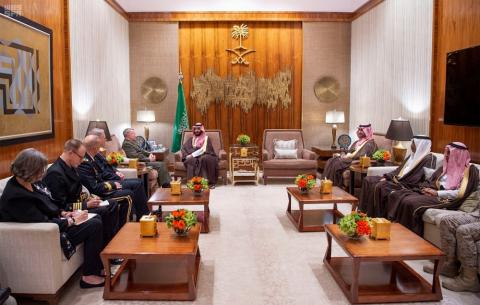 Saudi Crown Prince Holds Talks with US Central Command Chief