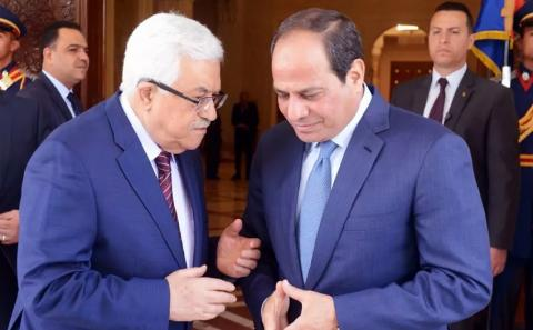 Abbas, Sisi Discuss Recent Developments in Palestinian Cause