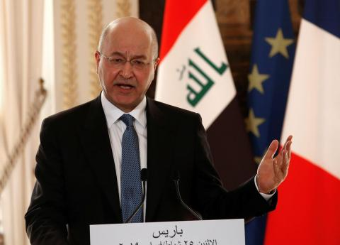 Zarif in Baghdad as Iraq President Prepares for Regional Trips
