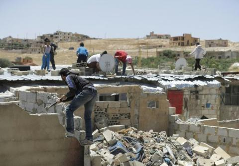 Syrian Refugees in Lebanon Camp Forced to Destroy Homes