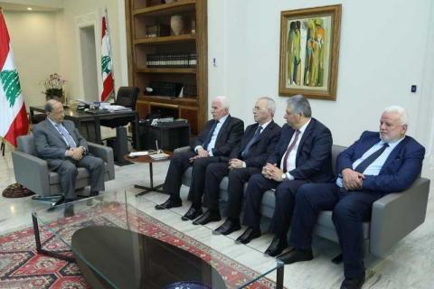 Abbas Values Aoun's Rejection of 'Deal of the Century'