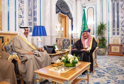 Saudi King Receives Message from Emir of Kuwait