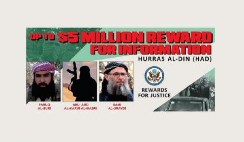 State Department Offers $15 Million for Info on 3 Hurras al-Din Leaders