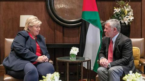 Jordanian King, Norway PM Discuss Efforts to Combat Terrorism