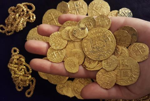 Rare Treasure of Byzantine Gold Discovered in Southern Russia