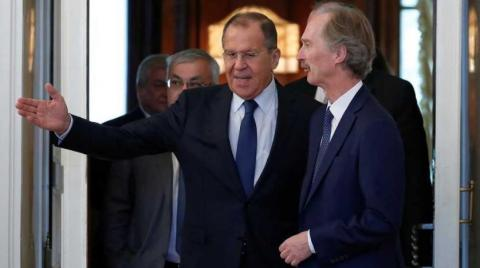 Lavrov to Discuss with Pederson Syrian-Related Issues