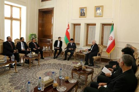 Bin Alawi Meets Zarif for 4th Time this Month